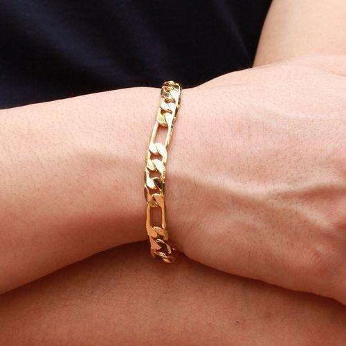 Pulsera Esclava Chapa De Oro Hombre Mujer 23 Cm X 3mm