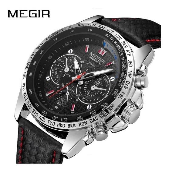 Relógio Masculino Megir 1010 Original Prova D