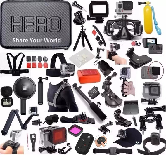 Kit Completo P Gopro Hero 5 Hero 6 Hero 7 Estanque Dome