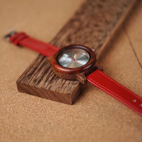 Reloj De Madera De Bamboo