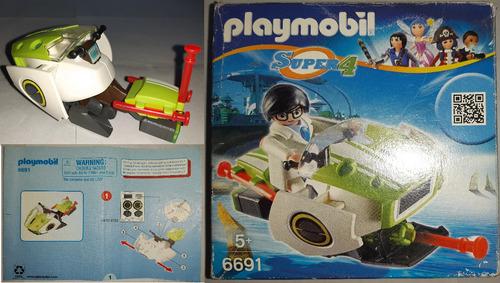 Skyjet Playmobil Super 4 Con Faltantes