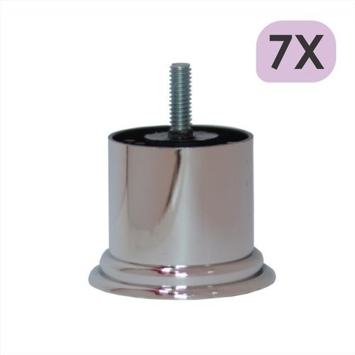Imagem 1 de 4 de Mini Pé Cama Box Baixo Castor Gazin Ortobom 5cm Cromo - 7un