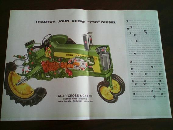 2 Láminas Ilustrativas Del Tractor John Deere 730