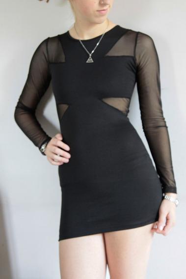 Vestido Mini Negro Fiesta Talle S Uhla Eleven Forever Srl