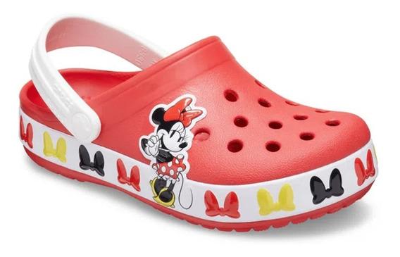 Sandália Crocs Infantil Minnie Mouse - 206308 - Original