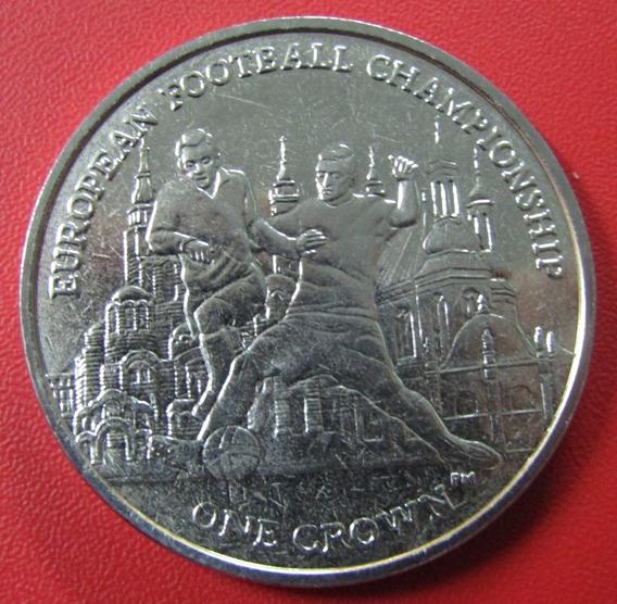 Isla De Man Moneda 1 Crown 2012 Unc Copa Europea Km 1461