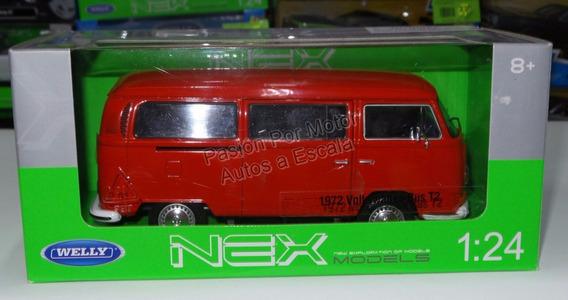 Volkswagen Bus T2 1972 Rojo Combi Pasion Por Motor A Escala