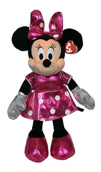 Pelúcia Minnie Mouse Linda Vestido Rosa Minie Mouse Urso Ty
