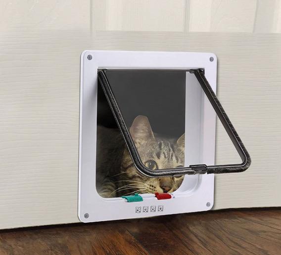 Porta Para Gatos Cachorro 4 Em 1 Pet Door 25x23cm Passagem
