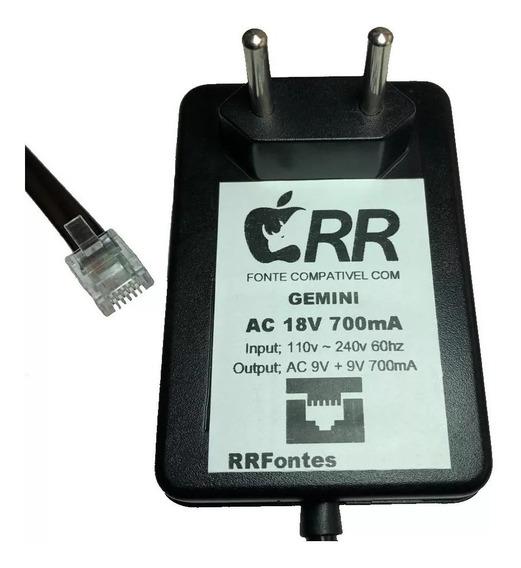 Fonte Ac 18v Para Mixer Gemini Fx-7000 Umx-3 Umx-5 Umx-7