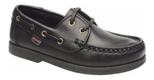 Zapato Marcel 500 Colegial Escolar Mocasín Náutico Cuero