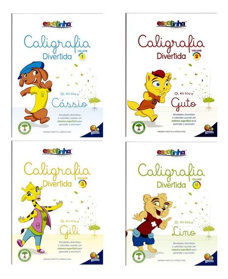 Caligrafia Divertida - 4 Volumes - Crianças Acima De 5 Anos