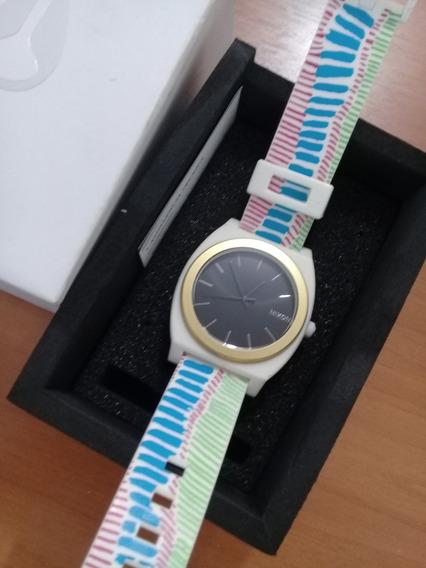 Relógio De Pulso Time Teller Gold/black Novo Original