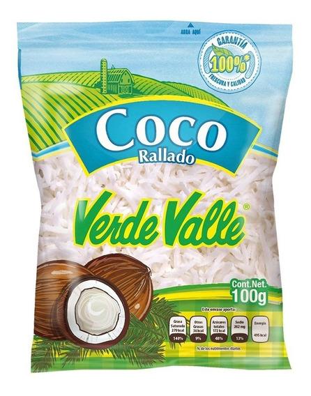 Coco Rallado Deshidratado Verde Valle 100 G