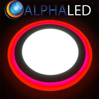 Panel Bicolor Led 9w Alphaled Redondo Embutir