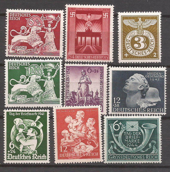 2° Guerra 1942 Alemania 9 Sellos Mint 17 U$d De Catalogo - 113