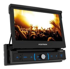 Dvd Player Automotivo Positron Sp6330bt Retrátil Tela 7 Dvd