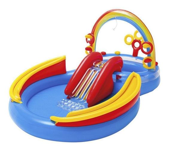 Piscina Infantil Playground Arco Iris Inflável 227 L Intex