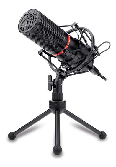 Microfone Gamer Redragon Blazar Gm300 Led Vermelho Usb