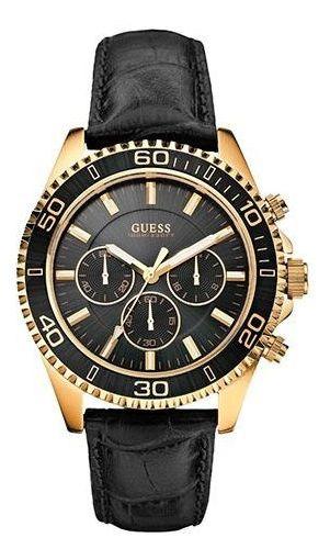 Relógio Guess Masculino Pulseira De Couro 92487gpgsdc1