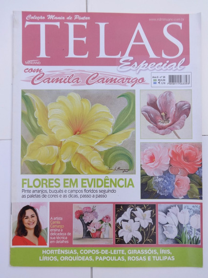 Revista: Telas Especial Nº 20: Camila Camargo - Flores
