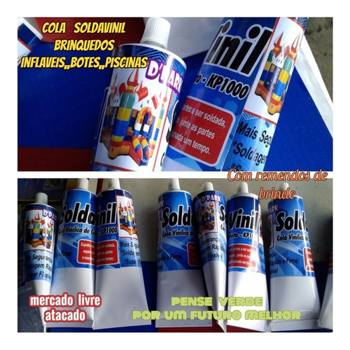 Imagem 1 de 10 de Cola Para Lona Kp1000 Soldavinil Bisnaga Com 300ml+brinde