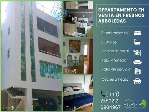 Departamento En Venta Fracc Fresnos Arboledas