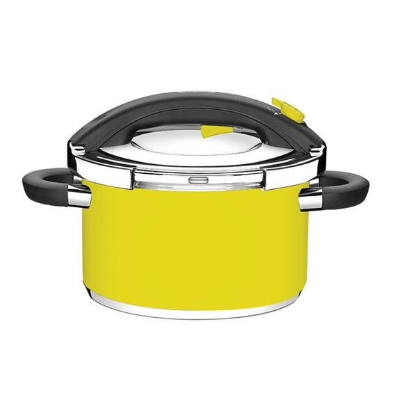 Panela De Pressão Em Aço Inox Tramontina Presto 6 Litros Amarela