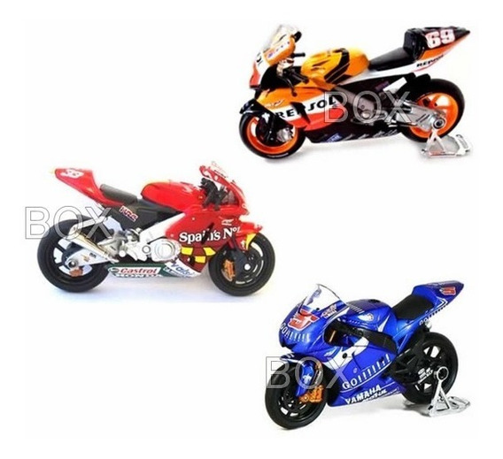Kit Com 03 Miniaturas De Motos Gp Maisto Escala 1:18