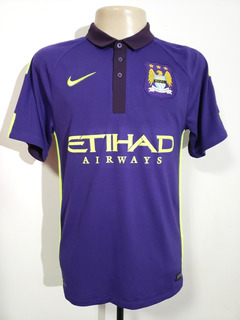 Camisa Oficial Manchester City Inglaterra 2014 Third Nike P