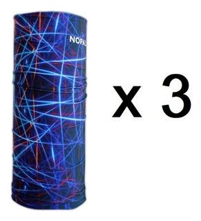 Combo X 3 Cuellos Termico Multifuncion Nopal Multiuso Frio