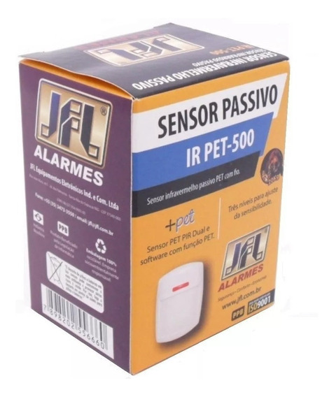 Sensor De Presença Infravermelho Pet 20kg Irpet 500 Jfl