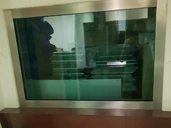 Ventana Blindada Con Vidrio 5cm De Grosor Marca Mosler