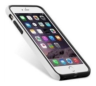 Capa Melkco Double Layer Branca E Preta iPhone 6 Plus