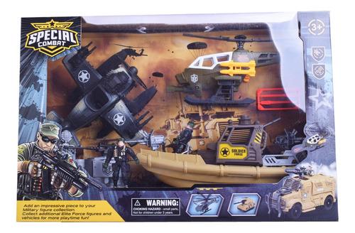Muñecos Soldados Con Escenarios Y Vehículos De Guerra