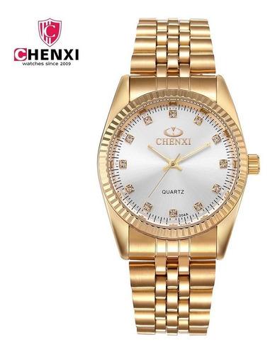 Relógio Feminino Chenxi 004 White, Aço Inox À Prova D'água