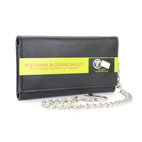 Billetera Triple Para Hombre Montauk Leather Club, Con