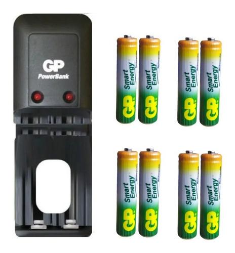 Cargador Gp Con  Pilas Baterías Recargables Aaa Garantizadas
