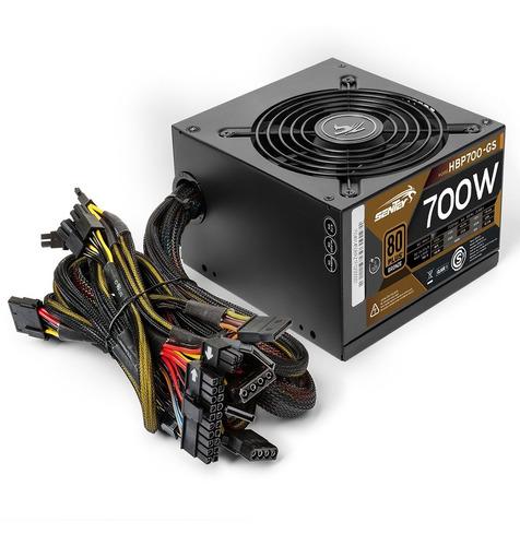 Fuente Pc Gamer 700w Reales 80 Plus Bronce Atx Protección V