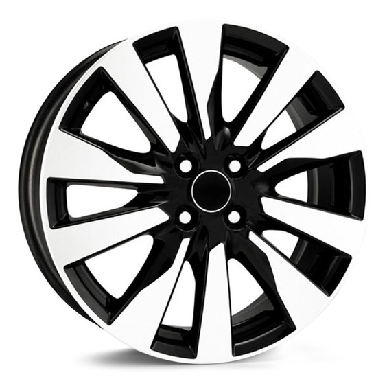 Jogo 4 Roda R90 Nissan Kicks Preta Diamantada 15x6,0 4x100