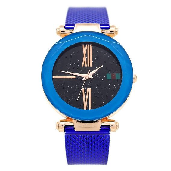Reloj Dama Mujer Mestre Azul
