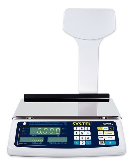 Balanza Digital Systel Croma 30 Kg Bateria Puerto Rs232 Cuot