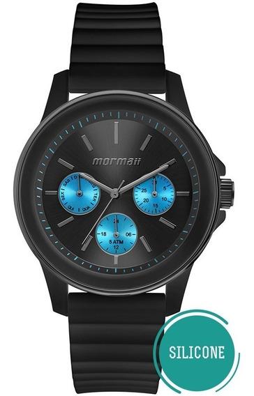 Relógio Mormaii Feminino Mare Multifunçao Mo6p29am/8a Preto