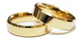 Par Alianças Ouro 18k Legítimo Casamento Com 6mm 6 Gramas
