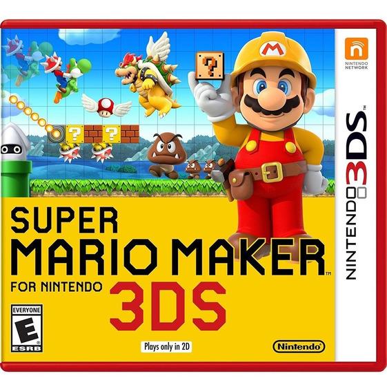 Super Mario Maker 3ds Mídia Física Lacrado