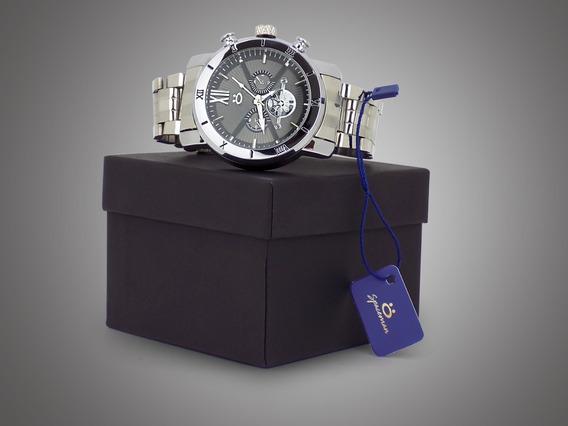 Relógio Masculino Orizom Dourado E Prata Original + Caixa