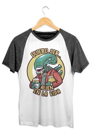 Playera Doshik Caballero Aliens Quiero Ser Alien En La Vida