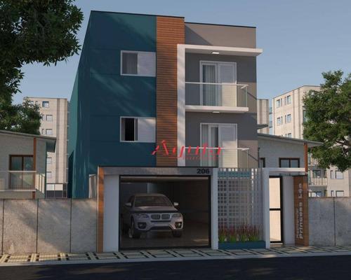 Cobertura Com 3 Dormitórios À Venda, 70 M² Por R$ 455.000,00 - Parque Das Nações - Santo André/sp - Co0540