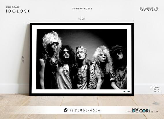 Placa Decorativa - Coleção Ídolos Do Rock - Mundo Decori