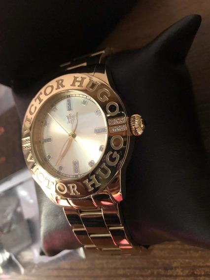 Relógio Victor Hugo Gold Original.